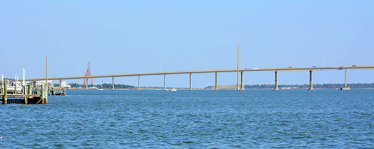 The bridge to Beaufort NC from Morehead City, NC