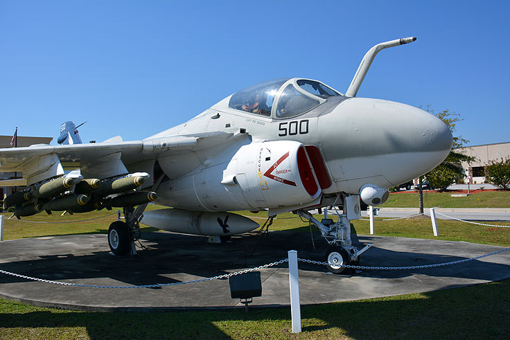 An A-6 Intruder at the Havelock Tourist and Event Center