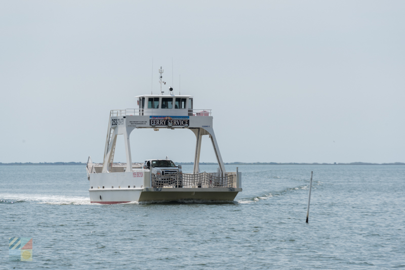 Davis vehicular ferry to Cape Lookout National Seashore